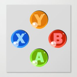 XBOX 360 Buttons Canvas Print