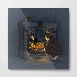 The Witch in the Fireplace Metal Print