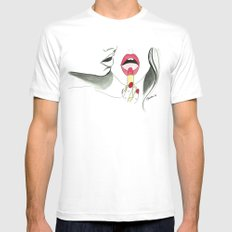 Tom Ford Lips MEDIUM Mens Fitted Tee White
