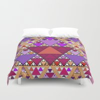 triangle Duvet Covers featuring Triangle by Anne Seltmann