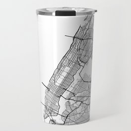 Minimal City Maps - Map Of Manhattan, New York, United States Travel Mug