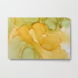 Alcohol Ink Composition Metal Print