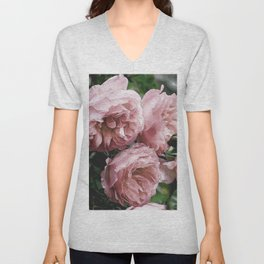 Pale pink Rose Sandi Unisex V-Neck