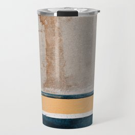 Downtown Textures In Blue And Yellow Paint Travel Mug
