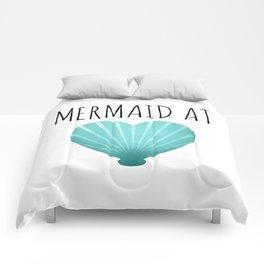 Mermaid At Heart  |  Teal Comforters