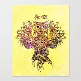 Botanical Owl Canvas Print