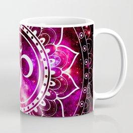 Ohm Mandala : Galaxy Mandala Red Fuchsia Pink Coffee Mug