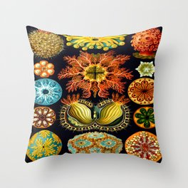 Sea Squirts (Ascidiacea) by Ernst Haeckel Throw Pillow