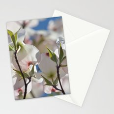 White Dogwood Tree Floral Stationery Cards