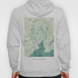 New Haven Map Blue Vintage Hoody