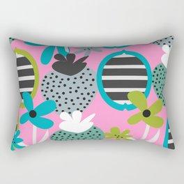 Summer mix in pink and blue Rectangular Pillow