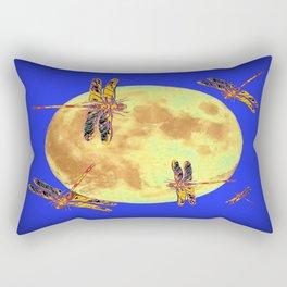 Golden Dragonflies Love Moon Light Rectangular Pillow