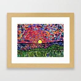 impressionistic Sunset Framed Art Print