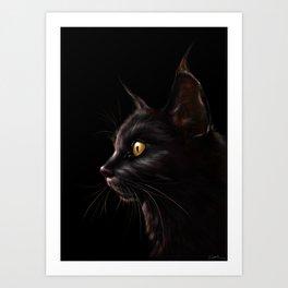 Black Cat V2 Art Print