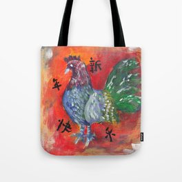 Happy Rooster Year Tote Bag