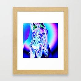 Body Paint Lighting Experiment 13 - Anonymous Model Framed Art Print