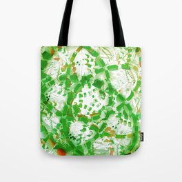 Green industrial abstract Tote Bag