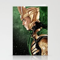 loki Stationery Cards featuring Loki by Natalie Nardozza