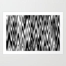WAVY #1 (Black, White & Grays) Art Print