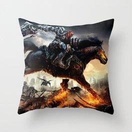 Sword King Throw Pillow