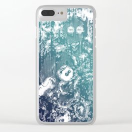 Inky Shadows - Blue edition Clear iPhone Case