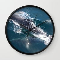 dolphin Wall Clocks featuring Dolphin by WonderfulDreamPicture