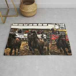 Wild Horses - Rodeo Event Rug