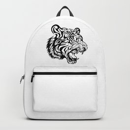 Aggressive Tiger Backpack
