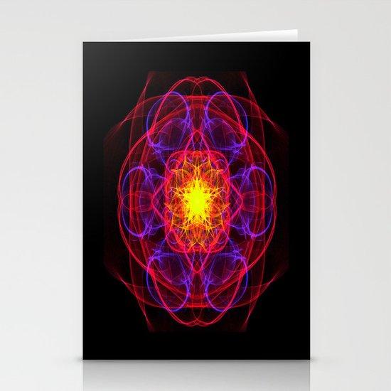 Silkweave / Neon Sigil 1 Stationery Cards