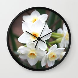 Narcissus Flowers Wall Clock