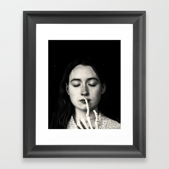 shh Framed Art Print