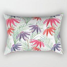 Red, purple flowers . Rectangular Pillow