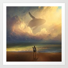 Waiting for the Wave Art Print