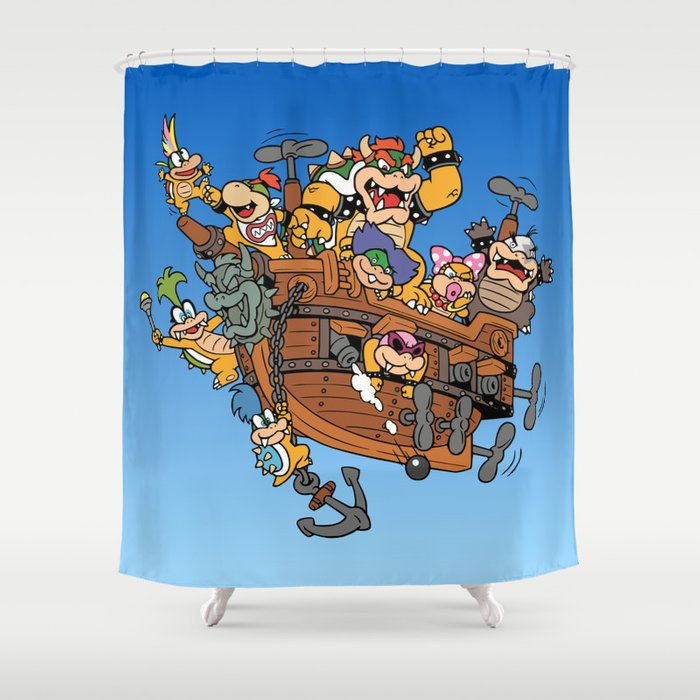 Father And His Children Shower Curtain