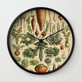 Vegetable Chart Wall Clock