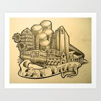 "san diego Art Prints featuring ""San Diego"" by Vic Martin"