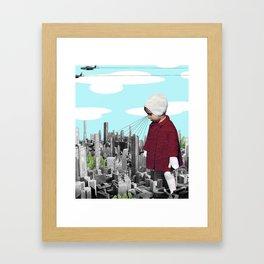 child, seeking something  Framed Art Print