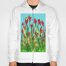 Sky is blue flowers are red Hoody