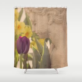 Girl Smells Tulip Shower Curtain