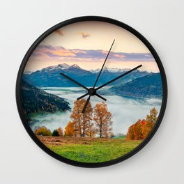 Beautiful Nature Concept Background Wall Clock