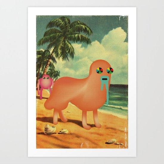 BeacH_PostCArD Art Print