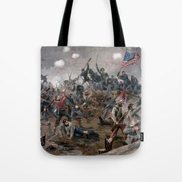 Vintage Lithograph of the Battle of Spotsylvania Tote Bag