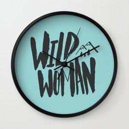 Wild Woman x Blue Wall Clock