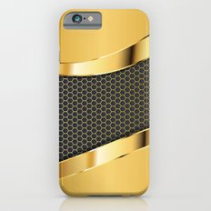 Carbon and Gold iPhone 6 Slim Case