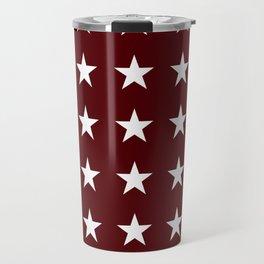 Stars on Maroon Travel Mug