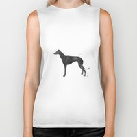 greyhound Biker Tanks featuring Greyhound by Carma Zoe