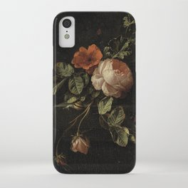 Botanical Rose And Snail iPhone Case
