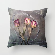Trapped Roses Throw Pillow