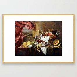 Laurens Craen Still Life with Imaginary View Framed Art Print