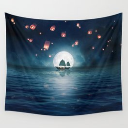 Travel through the Lights Wall Tapestry